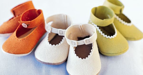 martha stewart felt shoe tutorial baby babyshoes