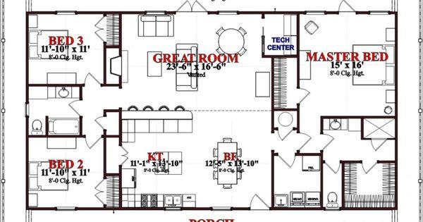 1800 sq ft house plans pinterest garage house for 1800 sq ft house plans open concept
