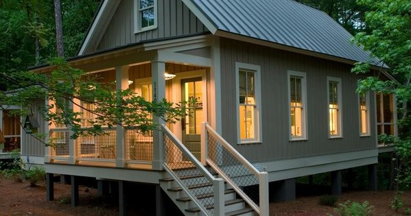Tropical style house plans ideas with board and batten for Board and batten cabin plans