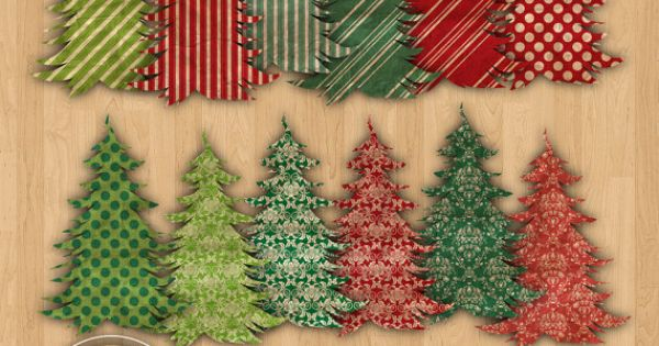 75 off 12 digital textured christmas trees 12 pieces commercial