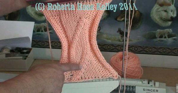 Knitting Machine Tutorial : Machine knit wide cable knitting stuff