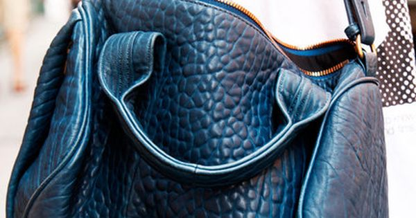 Alexander Wang. alexanderwang blue bag fashion details pursesandi lauracomolli fashionblogger