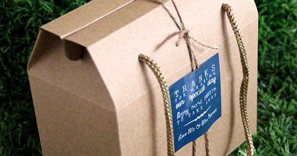 Wholesale 50 Small Vintage Style Gable Boxes Lunch