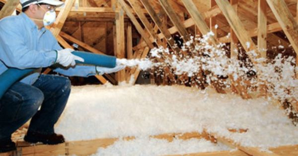 Blown In Insulation Is A Good Choice For Attics Fiberglass Comes In A Loose Form And Can Be Blown In But Cell Attic Insulation Attic Storage Attic Renovation