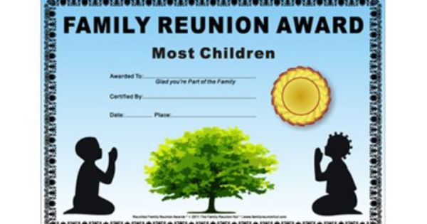 African american family reunion prayer theme african american free family reunion for Free printable family reunion certificates