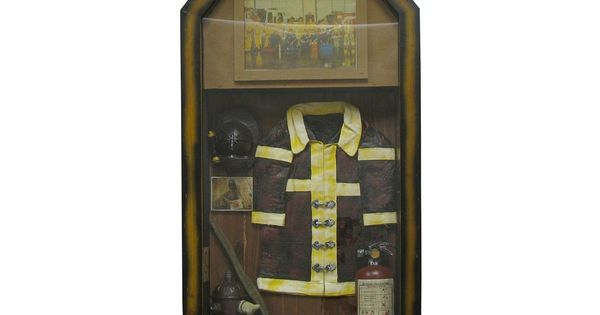 Firefighter Man Cave Signs : Firefighter shadow box man cave tin metal signs
