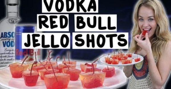 Vodka Redbull Jello Shots. #jello #shots #redbull #cherries #vodka ...