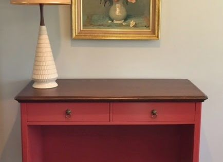 how to turn a dresser into a desk