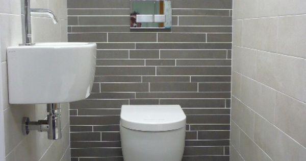 Badkamer ideeen modern toilet met natuurlijke kleuren door svv looierspoort pinterest - Origineel toilet idee ...