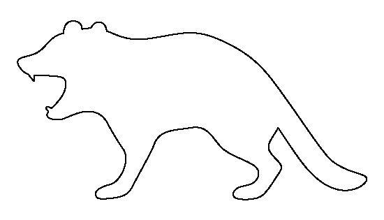 Tasmanian devil pattern Use the printable outline for