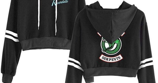 Memoryee Casual Girls Hoodie Riverdale Sport Crop Top