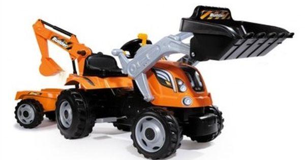 Smoby Traktor Max Koparka Na Pedaly Z Przyczepa 6752954364 Oficjalne Archiwum Allegro Backhoe Backyard Sandbox Tractors