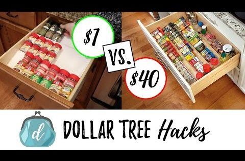 Dollar Tree Hacks To Organize Spice Drawers Cabinets