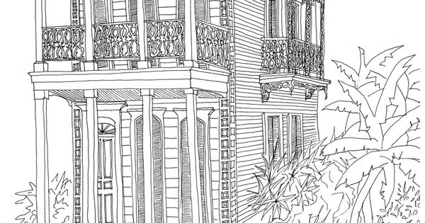 New Orleans Architecture Renderings By A Lovely Artist Friend