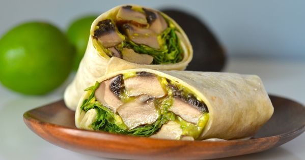 These amazing grilled mushroom wraps coat hearty portabellas in a spicy garlic