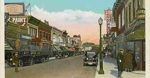 Lynbrook Long Island New York 1920 Downtown Atlantic Avenue Vintage Photo Downtown Long Island Vintage Postcard