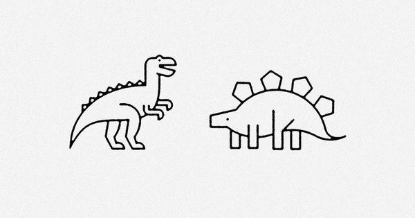 B icons almasty art direction illustration paris for Minimalist dinosaur tattoo