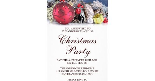 holiday party ticket invitation templates