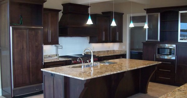 Kitchen Island And Refrigerator Door Covers To Match The Cabinets