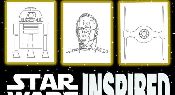Inspired by Star Wars Coloring Pages for your Star Wars Party on