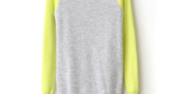 Longline Knit Sweater with Neon Sleeves Or in my eyes..comfy jammies;)