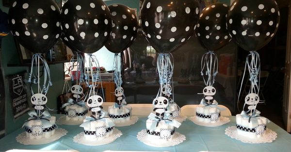 panda center pieces for baby shower baby shower ideas pinterest