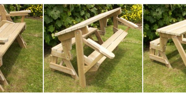 Detailed Plans For A Bench Which Turns Into A Picnic Table Beautiful Carpentry Pinterest