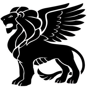 Winged Lion Clipart #1066398 - Illustration by Vector Tradition SM