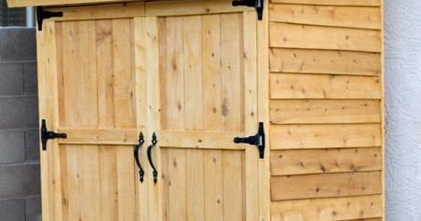 Small Cedar Fence Picket Storage Shed Plans (Ana White) (For side of