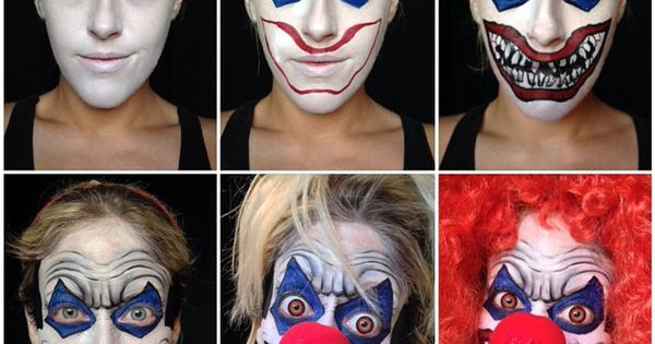 Scary clown makeup tutorial for Halloween by Carly Paige @carlypaigemakeup evatornadoblog