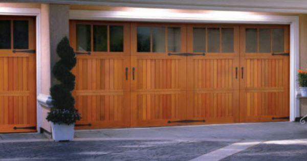 Wood Garage Door Signature 174 Carriage Villa Madre