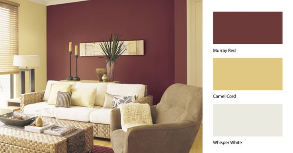 Team Dulux Camel Cord With Dulux Murray Red To Breathe New Life Into Your Liv