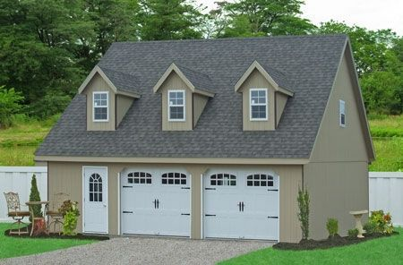 2 5 Car Garage With Second Story Detached Prefab Storage