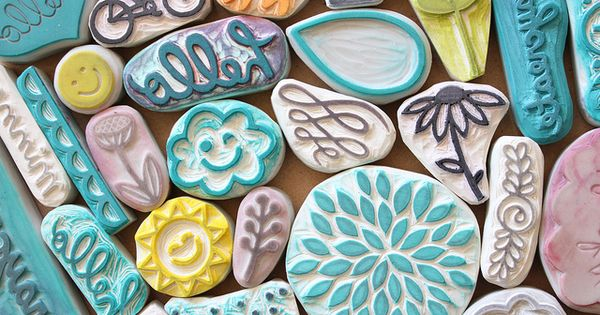 Gift idea for mum? hand carved stamps by minna-so, via Flickr