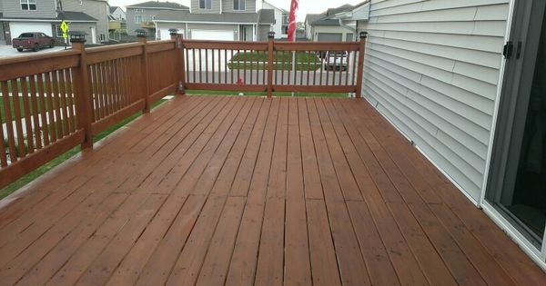 The Deck After Using Cabot Stain 1417 New Redwood The