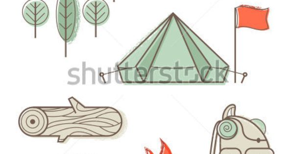 vintage campfire illustration - Google Search | Tattoo ...