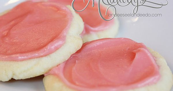 Landee See, Landee Do: Meltaway Cookies 4 ingredients has cream cheese frosting