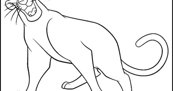 bagheera jungle book color page disney coloring pages