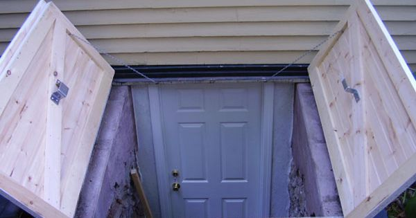 Lighting Basement Washroom Stairs: Bulkhead Doors For Exterior Backyard Basement