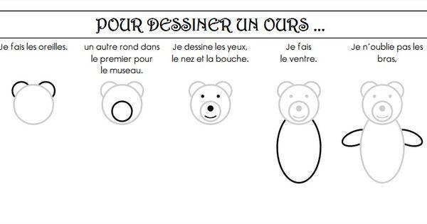 Comment dessiner un ours cliquer a animaux boucle d 39 or arts visuels pinterest comment - Comment dessiner un ours ...