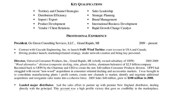 LinkedIn URL Resume Example Vice President Sales