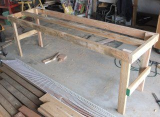 How To Make A Greenhouse Planting Bench Table Greenhouse Benches Greenhouse Shelves Indoor Greenhouse