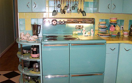 Lori's Pink, Blue And Yellow Retro Kitchen: A Whole Lot Of