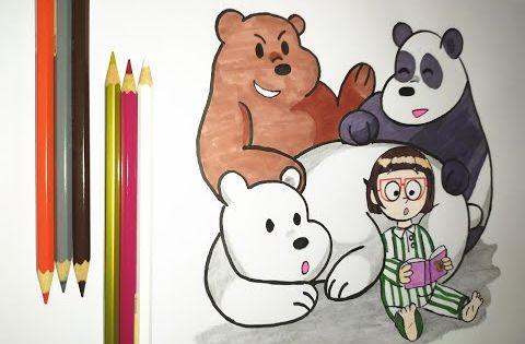 رسم الدببة الثلاثة باندا شهاب قطبي Drawing We Bare Bears Youtube We Bare Bears Drawings Bare Bears