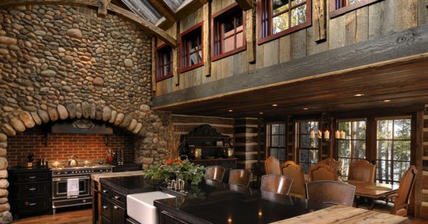 Beams, Vaulted, Skylights, Windows, Wood, Stone repurposed barn!