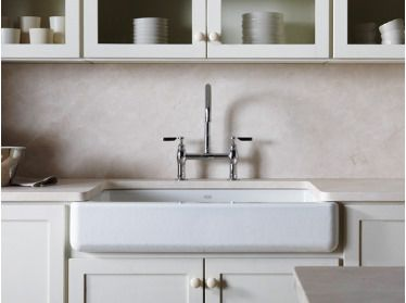 Farmhouse Or Apron Front Sink From Kohler One Of The Only