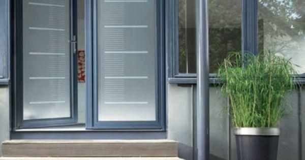 Porte d 39 entr e vitr e en aluminium toise k line deco for Porte de garage originale