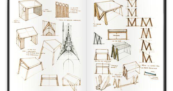 table num rique mm par alix videlier croquis blog and design table. Black Bedroom Furniture Sets. Home Design Ideas