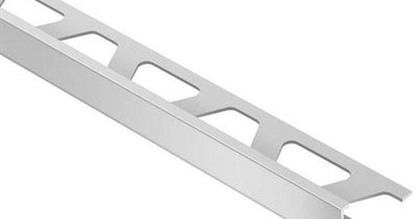 Schluter Systems 5 16 In Schiene Satin Silver Aluminum Tile Edge