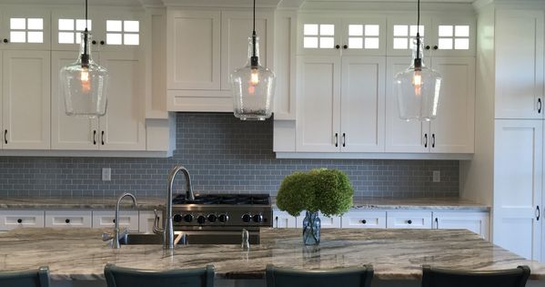 Farmhouse Kitchen With White Shaker Style Cabinets Granite